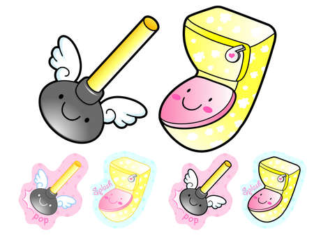 article icon: Various styles of Toilet article Sets. Household Items Vector Icon Series. Illustration