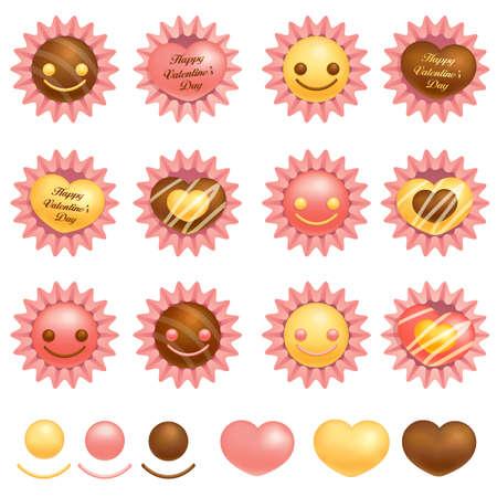 airiness: Various packing chocolate. Valentine Icon Design Series.