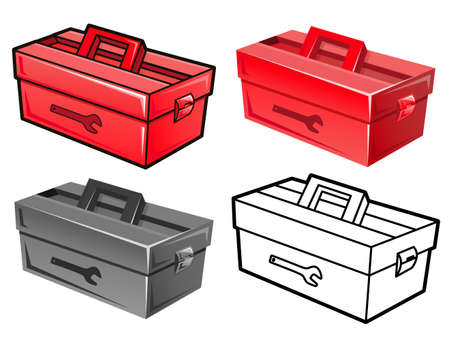manifold: Manifold styles of Toolbox Sets. Industrial market Items Vector Icon Series. Illustration