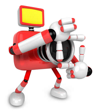 body language: The body language of the shape of the camera shots that Red Camera Character. Create 3D Camera Robot Series.