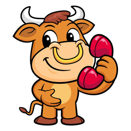 korea food: Bull Character just calls me back when you have more time. Illustration
