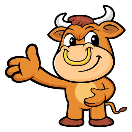 suggests: Bull Character Suggests the direction.