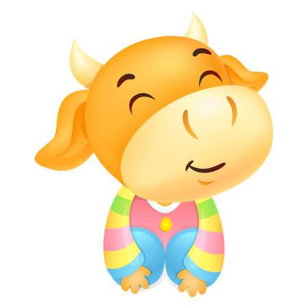 polite: Korea Traditional Bull Mascot is a polite greeting.