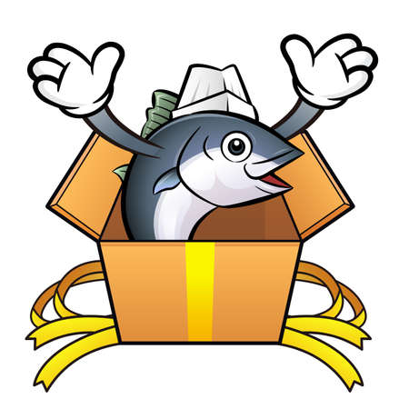 scombridae: The best chef Tuna Fish is in a big box.