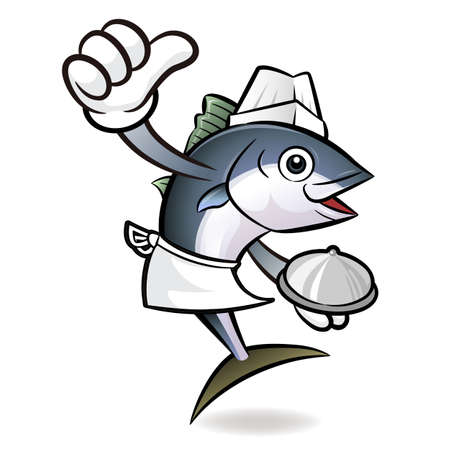 scombridae: The best top chef Tuna Fish Character.