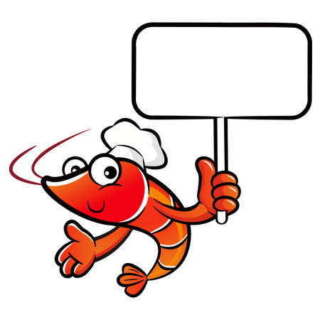 picket: Shrimp Character is holding a picket.