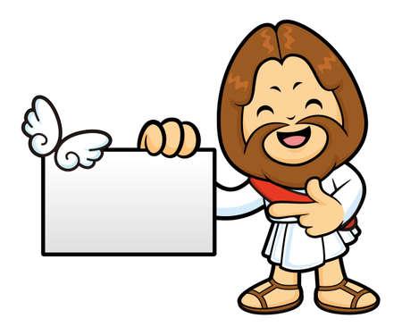 has been: Jesus Character has been directed towards business card.