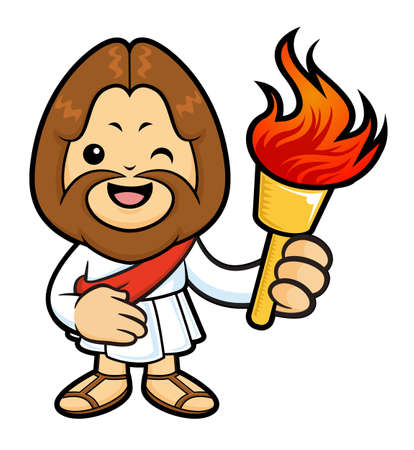 taper: The Jesus Character holding a signal fire.