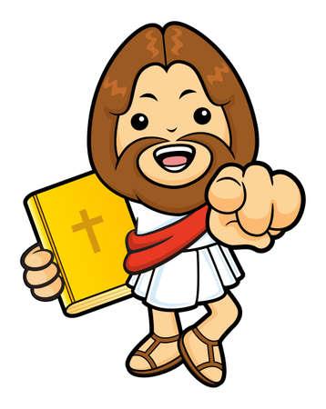 recite: Jesus Character has been directed towards a front.