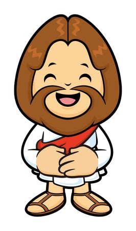 polite: Jesus mascot is a polite greeting.