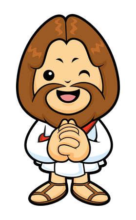 vespers: Jesus mascot in Prayer.