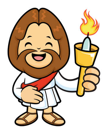 taper: The Jesus Character holding a Candlelight.