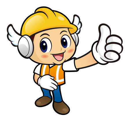 provide: Construction worker Character is to provide the best service.