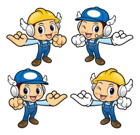 dedo me�ique: Car�cter del reparador es un me�ique juro. Vectores