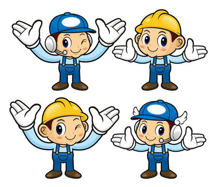 welcomed: Service Engineer Character has been welcomed with both hands.