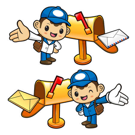 circulation of documents: The new letter to the Postman Character arrived.