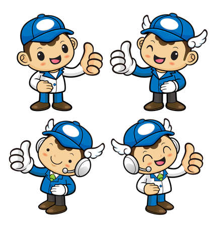provide: Delivery Man Character is to provide the best service. Illustration