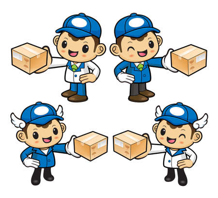 courier: Courier Character is holding a Delivery Box.