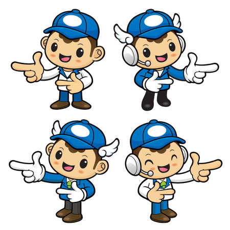 good shepherd: Delivery Man Character is taking gestures of Double pistols.
