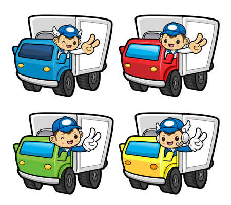 transporter: Driving a transporter in Parcel Service Character.