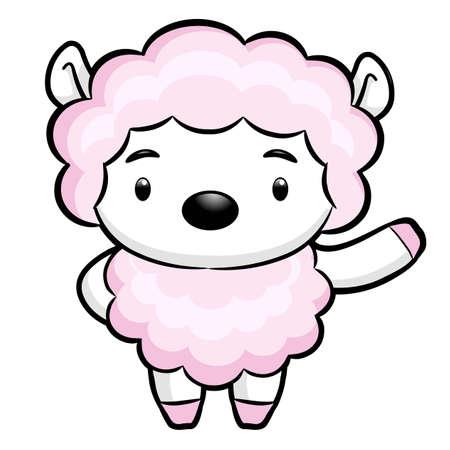 korea food: Sheep Character. Asian Zodiac Character Design Series.