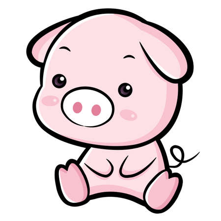 lovable: Lovable Pig Character.  Asian Zodiac Character Design Series.
