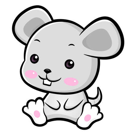 lovable: Lovable Rat Character. Asian Zodiac Character Design Series. Illustration
