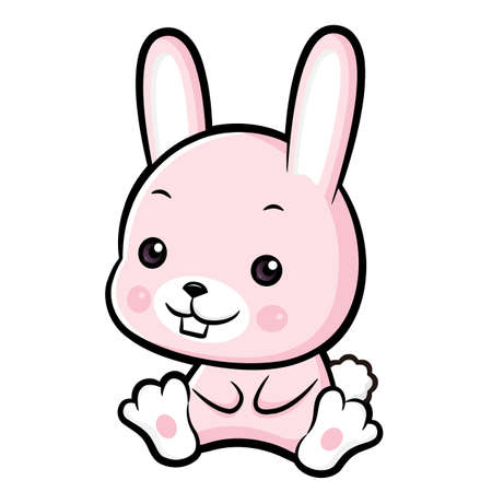 lovable: Lovable Rabbit Character.  Asian Zodiac Character Design Series.