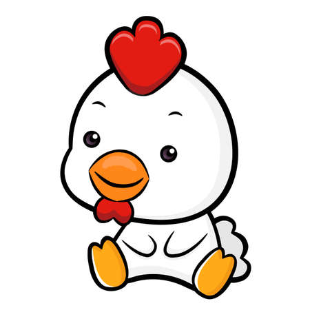 lovable: Lovable Chicken Character.  Asian Zodiac Character Design Series. Illustration