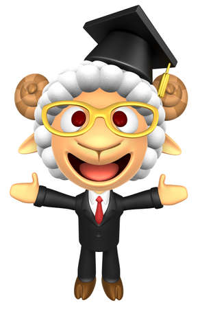 3D Doctor Sheep Mascot has been welcomed with both hands. 3D Animal Character Design Series.