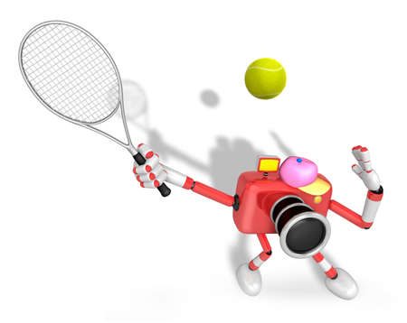 3D red Camera character is a powerful tennis game play exercises. Create 3D Camera Robot Series.