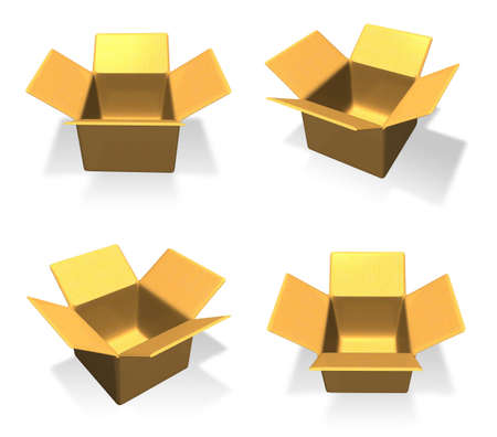 3D Empty box icon. 3D Icon Design Series.