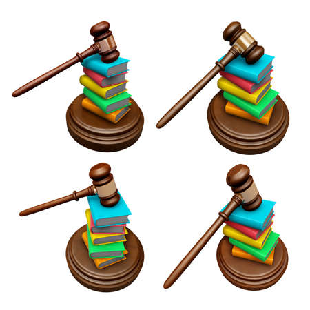 3D Publishing and courts Icon.