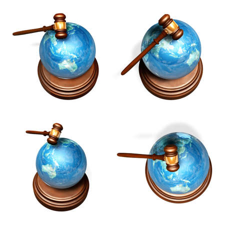 3D Globe and decision Icon.