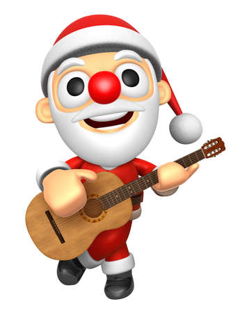 3D Santa has to be playing the guitar. 3D Christmas Character Design Series.
