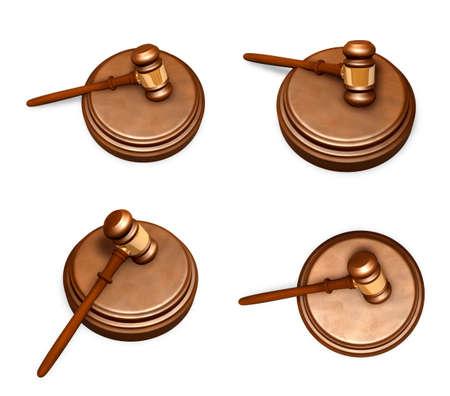 3D Icon rods trial judge. 3D Icon Design Series.