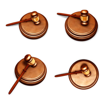 3D Rods and trial law Icon.