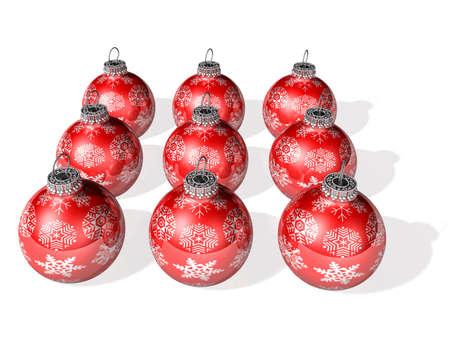 negen 3d kristallen bal voor kerstfeest