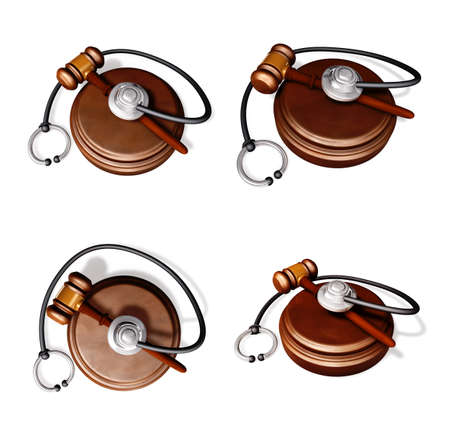 3D Law rods stethoscope Icon.