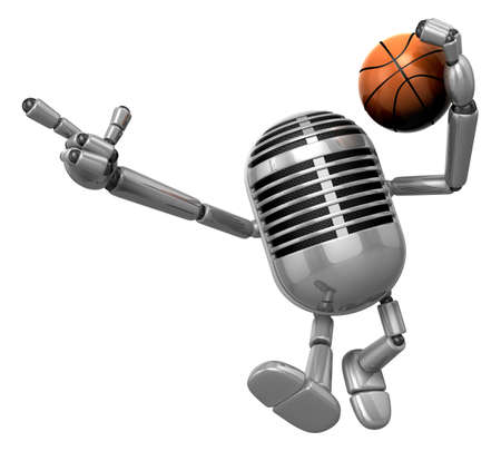 fidelidad: 3D Classic Microphone cut through the defense with his fancy dribbling. 3D Classic Microphone Robot Character Series.