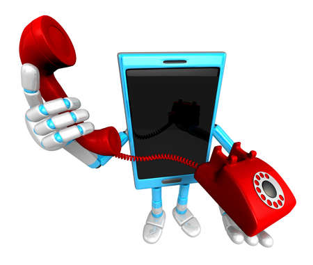 3D Smart Phone Mascot just calls me back when you have more time. 3D Mobile Phone Character Design Series.