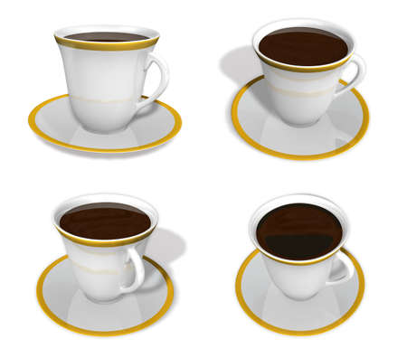 cup four: 3d cup and coaster range four set