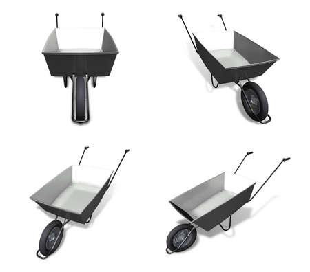 3D hand Carts icon. 3D Icon Design Series. Фото со стока