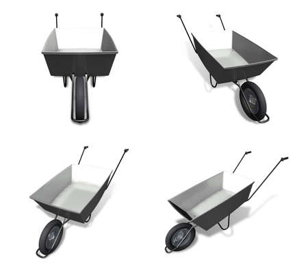 moving truck: 3D hand Carts icon. 3D Icon Design Series. Stock Photo