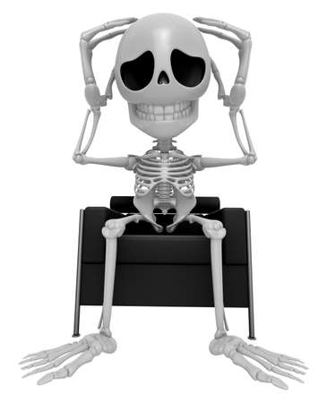 3D Skeleton Mascot That problem is such a headache. 3D Skull Character Design Series.