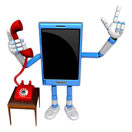 cellularphone: 3D Smart Phone Mascot Please call me today. 3D Mobile Phone Character Design Series.