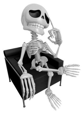 3D Skeleton Mascot is idea never crosses my mind. 3D Skull Character Design Series.