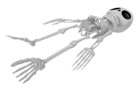 3D Skeleton Mascot life is severing. 3D Skull Character Design Series.