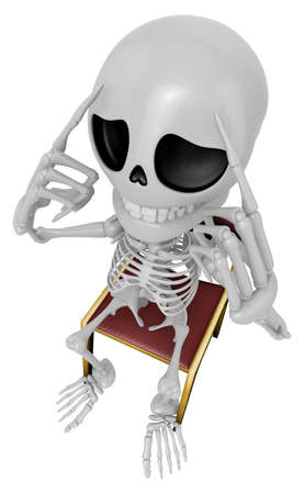 3D Skeleton Mascot a hard problem that is occurred. 3D Skull Character Design Series.