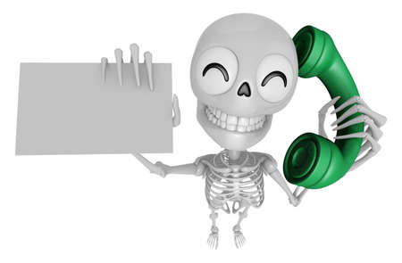 3D Skeleton Mascot Please call me today. 3D Skull Character Design Series.
